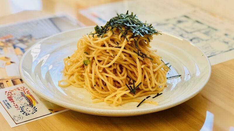 カフェあるこの明太子スパゲッティ