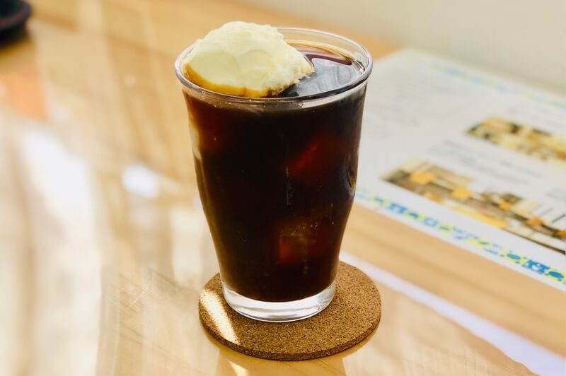 カフェあるこのコーヒーフロート